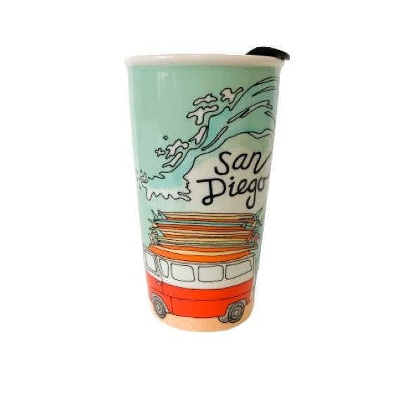 STARBUCKS San Diego Places Ceramic Travel Mug